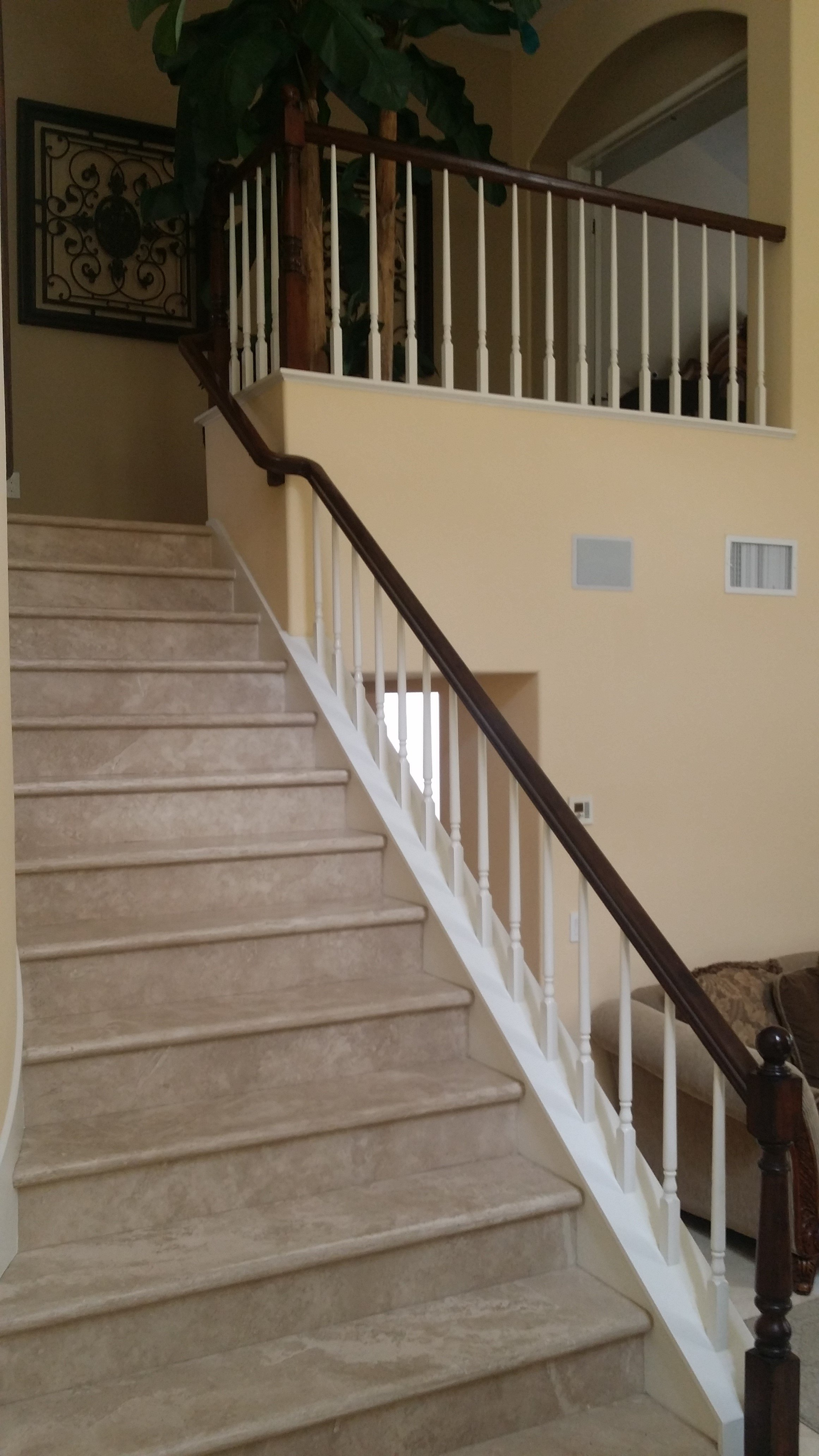 Staircase in California home