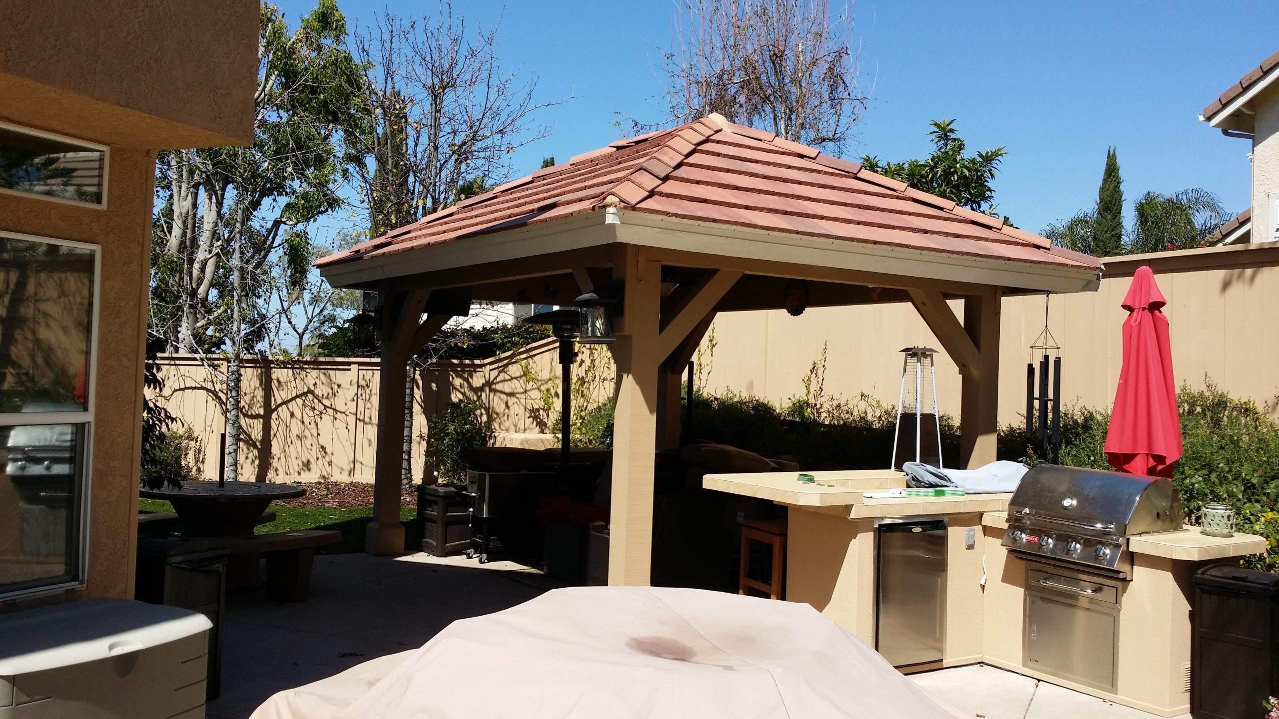 Terracotta roof gazebo