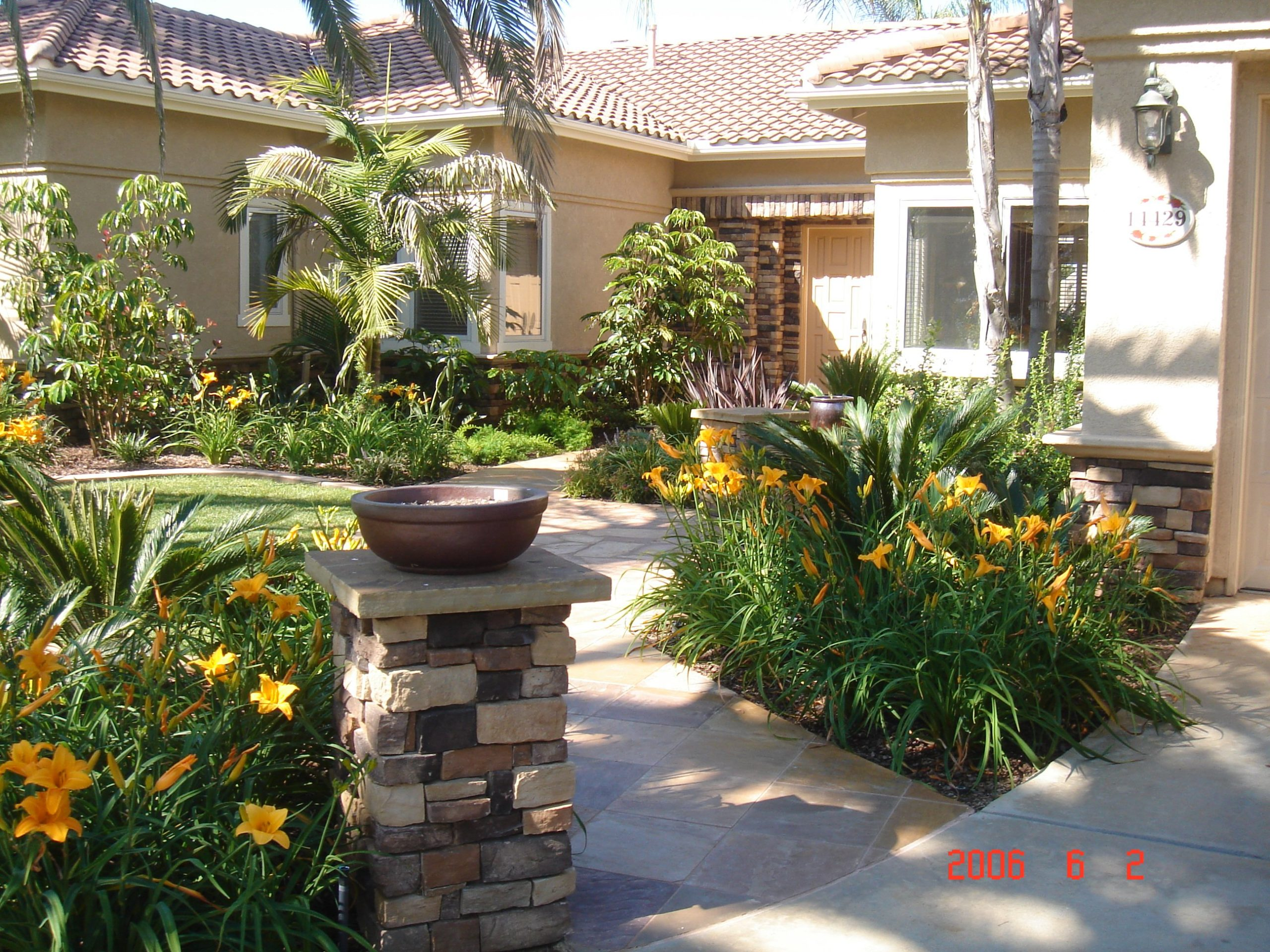 Landscaping outside of California home