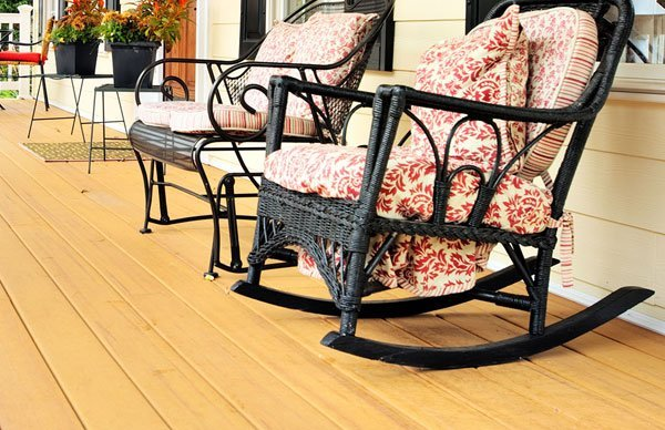 Patterned Rocking Chair