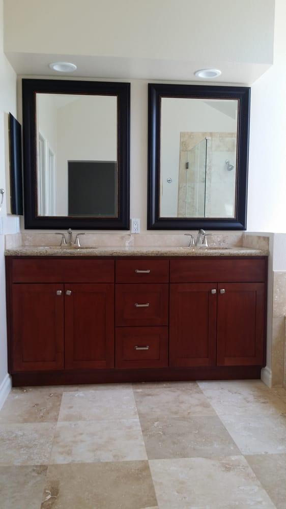 double vanity with mirrors