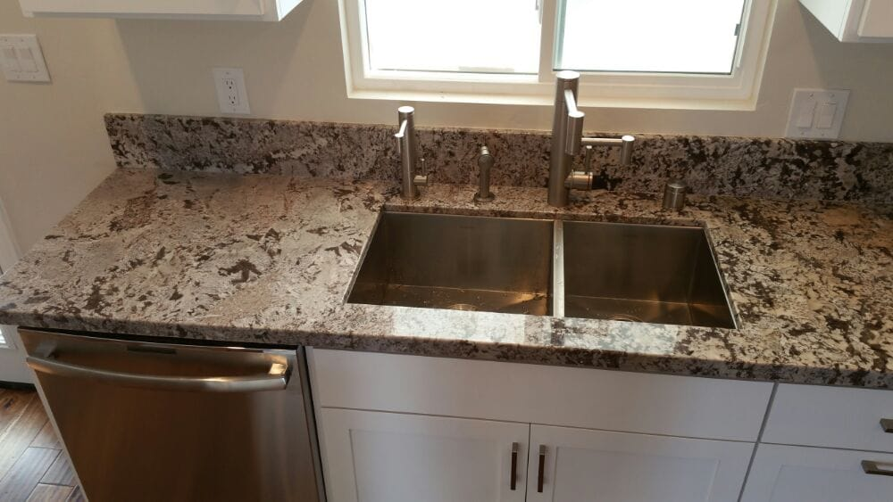 close up of sink countertop