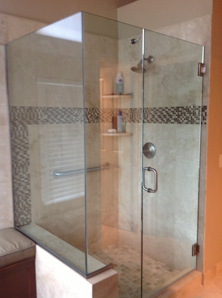 Newly tiled shower stall 2