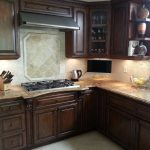 Stove and wooden cabinets